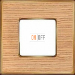 Рамка Vintage Wood 1 пост (дуб - блестящее золото) FD01311OOB