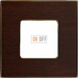 Рамка Vintage Wood 1 пост (венге - блестящее золото) FD01311WOB