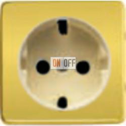 Розетка 2к+3 с винтовым подключением 10-16А 250 V~ (красное золото/бежевый) FD16523 - FD04314OR-A - FD16-BAST