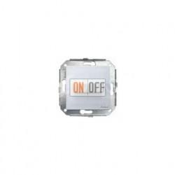 Выключатель 1 клавишный поворотный с 2-х мест, металлик/сталь 37308512