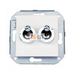 Выключатель на два направления: два тумблера (сх.5) 10А 250В~, белый/хром 67300262