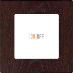 Рамка одноместная F37,  дерево венге 37801042