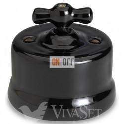 Выключатель поворотный для жалюзи 10А 250В~, Fontini Garby черный фарфор 30342272