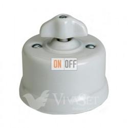 Выключатель поворотный 10А 250В~ Fontini Garby, белый фарфор/ручка ретро 30306302