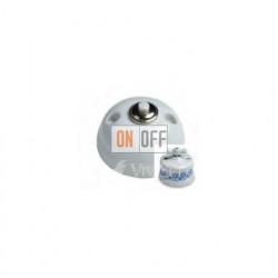 Выключатель-кнопка 10А 250В~, Fontini Garby белый фарфор/синий декор 30310112