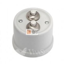 Выключатель-кнопка  на два направления 10А 250В~, Fontini Garbyбелый фарфор 30343172