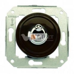 Переключатель тумблерный с 2-х мест 10А 250В~, коричневый с никелем 65308522