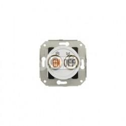 Выключатель для жалюзи: два тумблера 2,5А 10А/250В~, белый с золотом 65342302