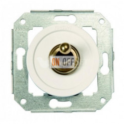 Перекрестный тумблерный выключатель 10А 250В~, белый с бронзой 65304592