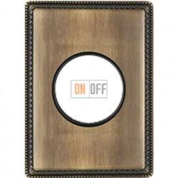 Рамка одноместная с круглым вырезом Venezia Metal, цвет - бронза 39801532