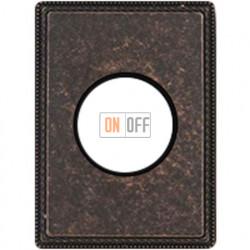 Рамка одноместная с круглым вырезом Venezia Metal, цвет - состаренная медь 39801462