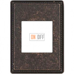 Рамка одноместная с квадратным вырезом Venezia Metal, цвет - состаренная медь 39821462