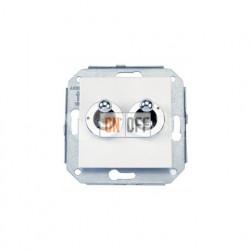 Выключатель на два направления: два тумблера (сх.5) 10А 250В~, металлик/хром 67300612