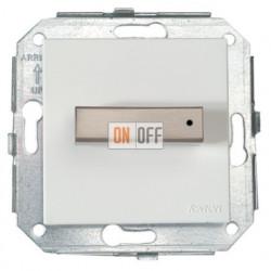 Выключатель для управления жалюзи поворотный белый/сталь 37342252
