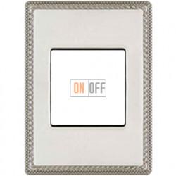 Рамка одноместная с квадратным вырезом Venezia Metal, цвет - хром 39821512