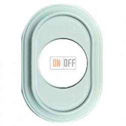 Рамка одноместная Venezia Oval, цвет - белый лакированный 35801052