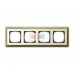 Рамка четверная, для гориз./вертик. монтажа Gira Classix, бронза-кремовый 0214623