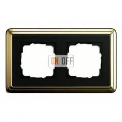 Рамка двойная, для гориз./вертик. монтажа Gira Classix, латунь-черный 0212632
