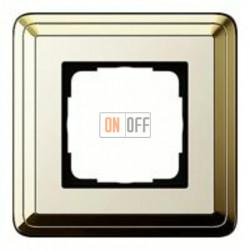 Рамка одинарная Gira Classix, латунь-кремовый 0211633