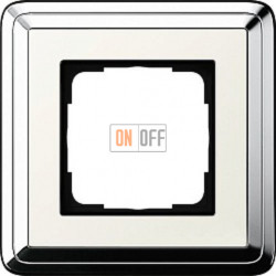 Рамка на 1 пост, Gira Classix, хром-кремовый 0211643