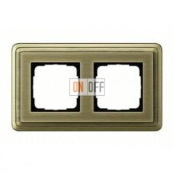 Рамка двойная, для гориз./вертик. монтажа Gira Classix, бронза 0212621