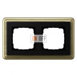 Рамка двойная, для гориз./вертик. монтажа Gira Classix, бронза-черный 0212622