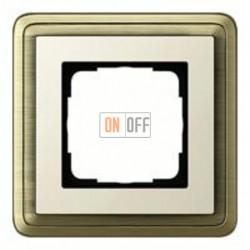 Рамка одинарная Gira Classix, бронза-кремовый 0211623