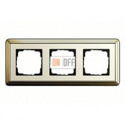 Рамка тройная, для гориз./вертик. монтажа Gira Classix, латунь-кремовый 0213633