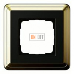 Рамка одинарная Gira Classix, латунь-черный 0211632