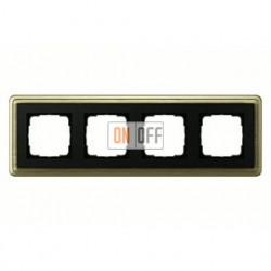 Рамка четверная, для гориз./вертик. монтажа Gira Classix, бронза-черный 0214622