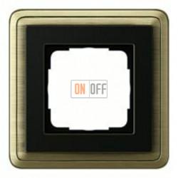 Рамка одинарная Gira Classix, бронза-черный 0211622