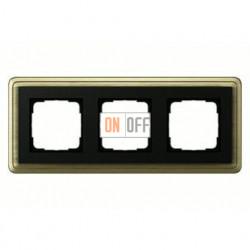 Рамка тройная, для гориз./вертик. монтажа Gira Classix, бронза-черный 0213622