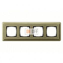 Рамка четверная, для гориз./вертик. монтажа Gira Classix Art, бронза 0214661