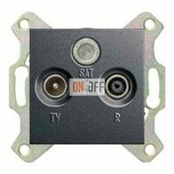 Розетка телевизионная оконечная TV SAT FM, диапазон частот от 4 до 2400 MГц 093700 - 086928