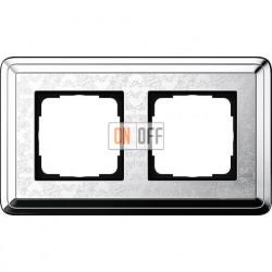 Рамка на 2 поста, вертикальная/горизонтальная, Gira Classix Art, хром 0212681