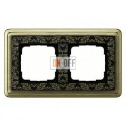 Рамка двойная, для гориз./вертик. монтажа Gira Classix Art, бронза-черный 0212662