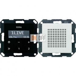 Радиоприемник скрытого монтажа с RDS с динамиком (белый глянец) 228003
