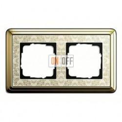 Рамка двойная, для гориз./вертик. монтажа Gira Classix Art, латунь-кремовый 0212673
