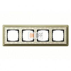 Рамка четверная, для гориз./вертик. монтажа Gira Classix Art, бронза-кремовый 0214663