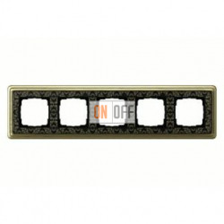 Рамка пятерная, для гориз./вертик. монтажа Gira Classix Art, бронза-черный 0215662