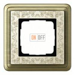 Рамка одинарная Gira Classix Art, бронза-кремовый 0211663