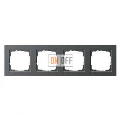 Рамка четверная, для гориз./вертик. монтажа Gira E2, антрацит 021423