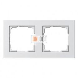 Рамка двойная, для гориз./вертик. монтажа Gira E2, белый матовый 021222