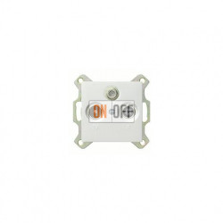 Розетка проходная TV SAT FM, диапазон частот от 4 до 2400 MГц 004200 - 086903