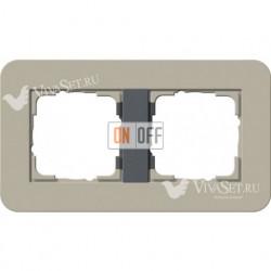 Рамка двойная  Gira E3  серо-бежевый/антрацит 0212428