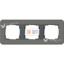 Рамка тройная  Gira E3  темно-серый/антрацит 0213423