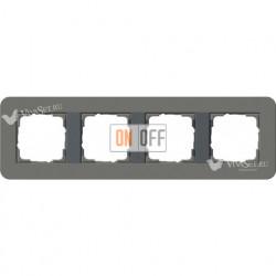 Рамка четверная  Gira E3  темно-серый/антрацит 0214423