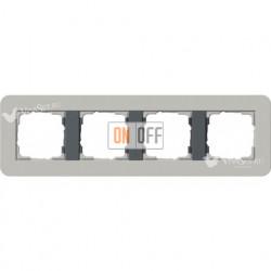 Рамка четверная  Gira E3  серый/антрацит 0214422