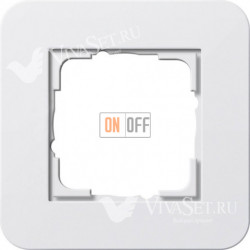 Рамка одинарная  Gira E3 белый глянцевый 0211410