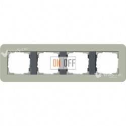 Рамка четверная  Gira E3  серо-зеленый/антрацит 0214425